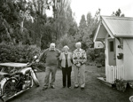 Stan and Mary White with their neighbour Tom McCord; Andrew Ross; 15.05.2014; MT2015.25.64