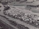 Photograph [1978 Flood, aerial view north end of Mataura]; Henderson, Keith Raymond; 1973; MT2017.18.16