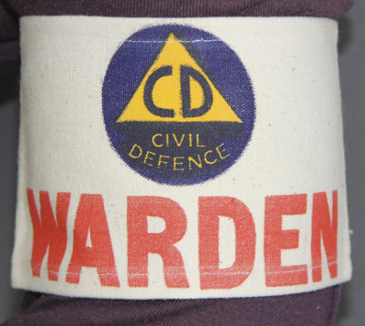 Armband;; a cream drill Civil Defence Warden's arm...