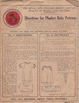 Sewing Patterns, Plunket Society; Plunket Society; 1930-1940; MT2016.5