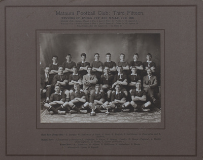 Photograph [Mataura Football Club, 3rd XV, 1929]; Mora Studio, The (Gore); 1929; MT2011.185.478.2