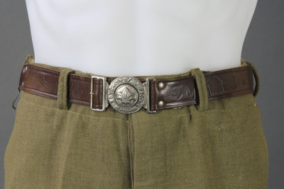 Belt; this scout belt belonged to Ian McKelvie who...