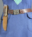 Girl Guide Belt and Knife; unknown maker; 1955-1963; MT2012.30.3
