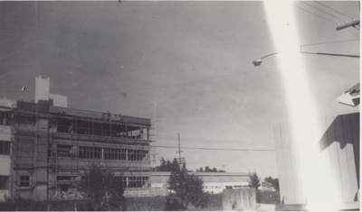 Photograph [Exterior Mataura Freezing Works] ; unknown photographer; 1964, May; MT2011.185.14