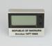 Clock, digital. Republic of Mataura, 14 October 1989  ; unknown maker; 1989; MT2012.118