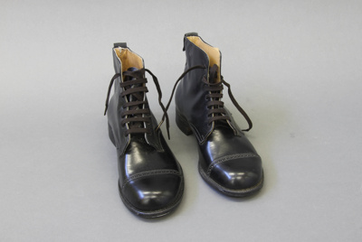 Boots; these two left dress boots were made as a s...