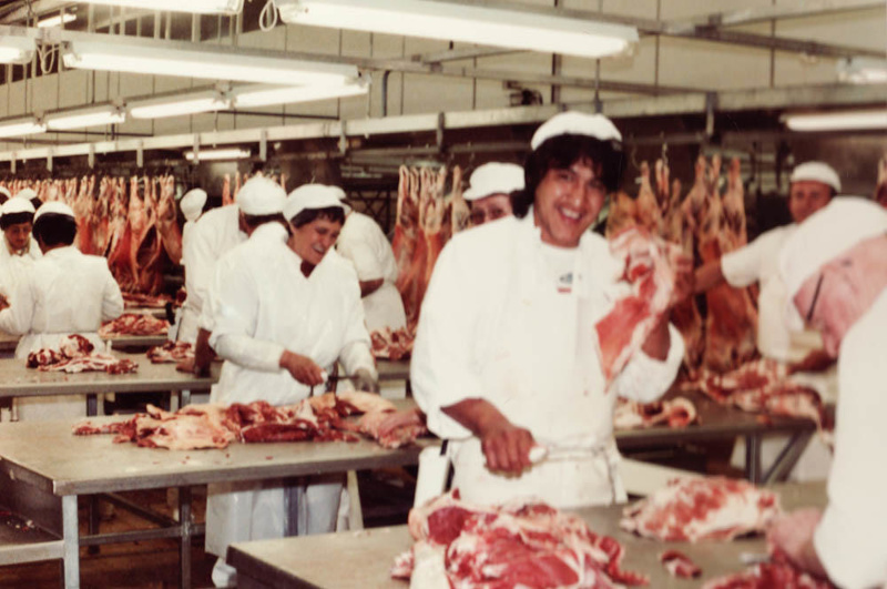 Photograph [Mutton Trimming Tables, Mataura Freezing Works]; Green,Trevor;  24.11.