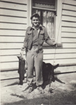 Photograph [John Hannabus with trophy trout]; Hannabus, John; 1952; MT2012.70.1