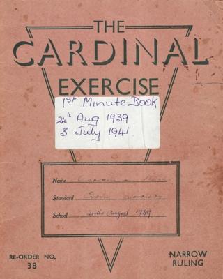 Minute Book, Red Cross, Mataura Sub-branch; Club members (various); 1939-1941; MT2012.165.1
