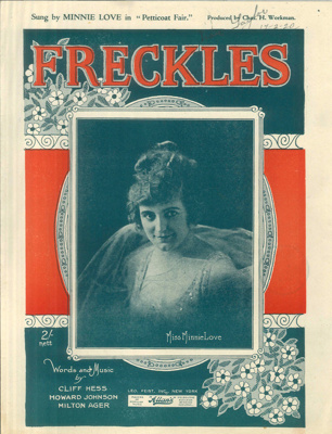 Music Score, 'Freckles'; Gerrard and Foley; 1919; MT2012.166.3