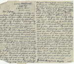 Letter, Driver Hugh McConnell to Master Geoffrey Quilter ; McConnell, Hugh Brown; 14.11.1944; MT2015.20.86