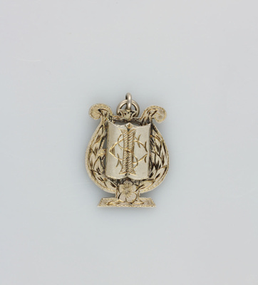 Medal; unspecified music medal in the shape of a h...