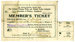 Membership Ticket, Freezing Works Union; Otago-Southland Freezing Works and Related Trades Industrial Union of Workers; 1924-1925; MT2015.2.3
