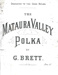 Music, 'The Mataura Valley Polka'; Brett, George; 1900-1910; MT2012.164.5