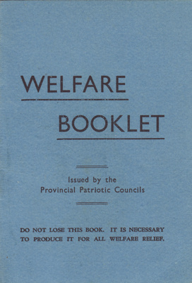 Book; Hugh Brown McConnell's Welfare Booklet issue...