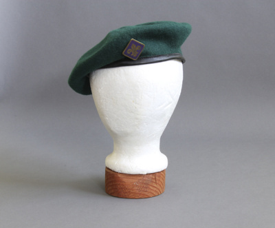 Beret; this beret belonged to Ian McKelvie who had...