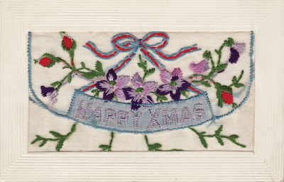 Postcard; a Christmas card from Private Alexander ...