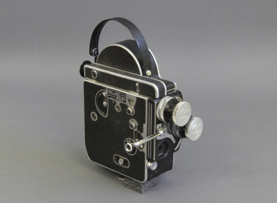 Movie camera; a Bolex H16 Reflex 16mm movie camera...