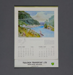 Calendar, Tulloch Transport, Mataura; unknown maker; 1984; MT2012.112.1