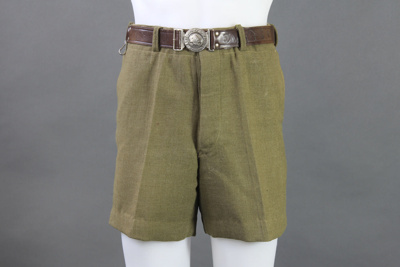Shorts; these scout shorts belonged to Ian McKelvi...