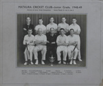 Photograph [Mataura Cricket Club, Junior Grade, 1948-49]; Kelly (Gore); 1948-1949; MT2011.185.483
