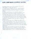 Biographical notes, Elizabeth (Bessie) McGowan ; 2013; MT2014.9.1