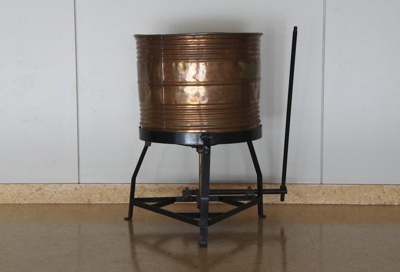 Washing Machine; a round copper hand-operated Spee...