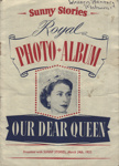 Album, photograph stickers of Queen Elizabeth II, Sunny Stories Magazine; Alabaster Passmore & Sons Ltd; 24.03.1953; MT2012.157.2