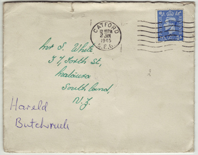 Letter from Harold Birtchnell (Catford, England) t...