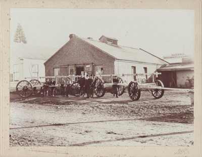 Photograph [J and J Galt, Wheelwrights and Blacksmiths, Mataura].; Mora Studio, The (Gore); 1896-1908; MT2011.185.130