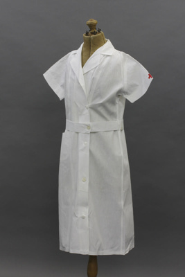 Dress; a white cotton button-down Red Cross nurse'...