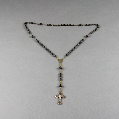 Rosary beads. This rosary belonged to Thomas Georg...