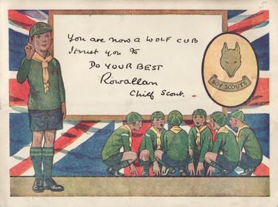 Enrolment Card; Mataura Cubs, Master Geoffrey Quil...