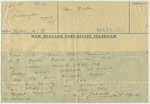 Telegram to Clara Quilter advising of her husband's death during W.W.II; Minister of Defence (New Zealand); 26.02.1943; MT2015.20.53