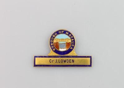 Badge, Mataura Borough Council; unknown maker; 1895; MT2000.166.5.1