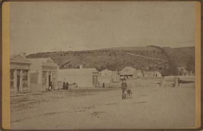 Photograph [Bridge Street, Mataura, early 1880s]; McEachen, J (Otago); 1881-1885; MT2011.185.119