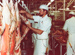 Photograph [Lamb Boning Pre-Pack, Mataura Freezing Works]; Green,Trevor; 13.11.1981; MT2013.3.31