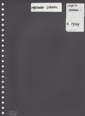 Album, photograph [Mataura School 1874-1929]; McKelvie, Ian & Edna; 1995; MT2012.8