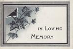 Memorial Card, Forrest Brown; unknown maker; 1904; MT2012.61