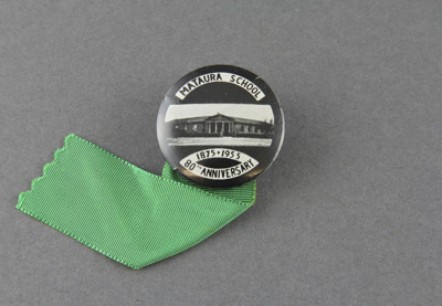 Badge; a commemorative badge from the 1955 (80th a...