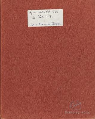 Minute Book; Red Cross, Mataura Sub-Branch. Book 4...