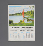 Calendar, Old & New / Case Drainage. Mataura; Tanner Couch; 1988; MT2012.107.11