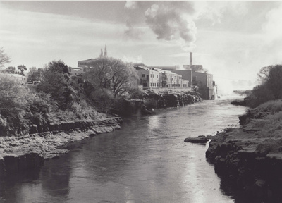 A black and white photograph dated 1988 of the Mat...