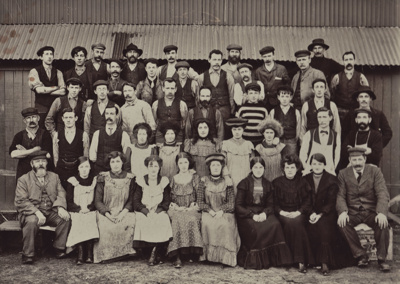 Photograph [Mataura Paper Mill employees]; unknown photographer; 1890-1910; MT2011.185.56