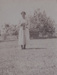 Photograph [Woman on grass tennis court]; unknown photographer; 1920s-1940s; MT2011.185.265.1