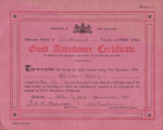 Certificate, Attendance at Mataura School; Government Printer; 1933; MT2012.146