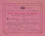 Certificate, Attendance at Mataura School; Government Printer; 1933; MT2012.146