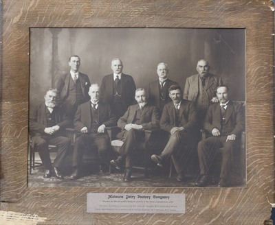 A black and white photograph of the directors and ...