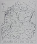 Map of Mataura Farm Locations [Showing Farmers East of the River, 1930-1950]; Department Survey and Land Information; 1990; MT2014.44.10
