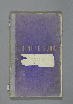 Minute book of the Mataura Athletic Society from 1...